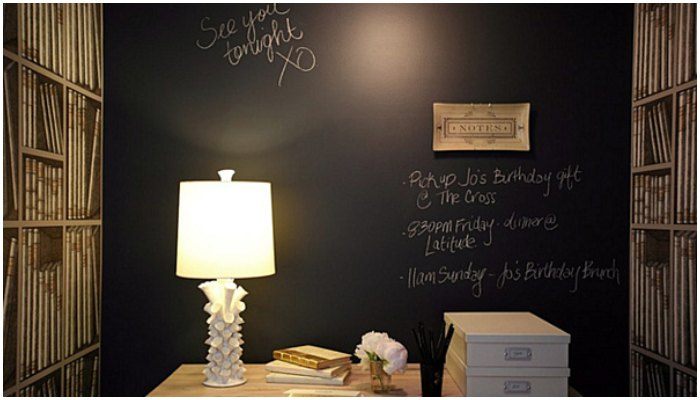 Chalkboard paint in the home
