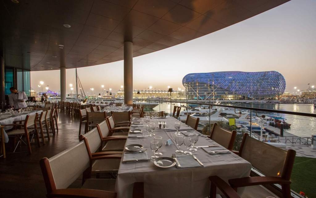 Outdoor dining options in abu dhabi for Ristorante cipriani abu dhabi