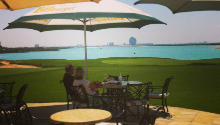 Hickory's outdoor terrace at Yas Links