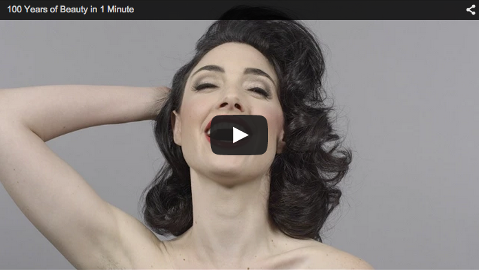 100 years of beauty in 1 minute video