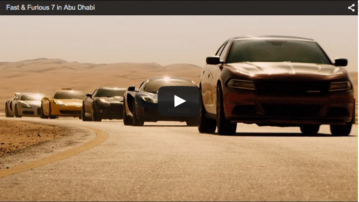 Fast and Furious 7 in Abu Dhabi