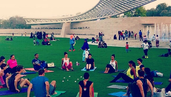 Let's Go Yoga in Mushrif Central Park Abu Dhabi