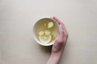 warm water and lemon in the morning