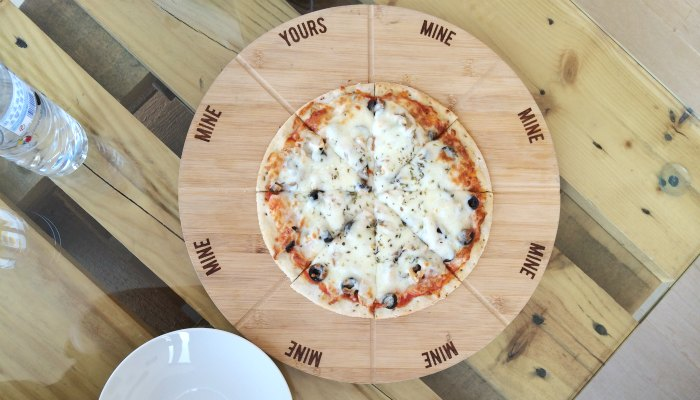 Gluten free pizza at Firin Bakery Abu Dhabi