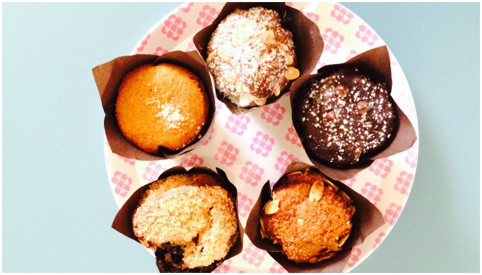 Muffins at Firin Bakery Abu Dhabi
