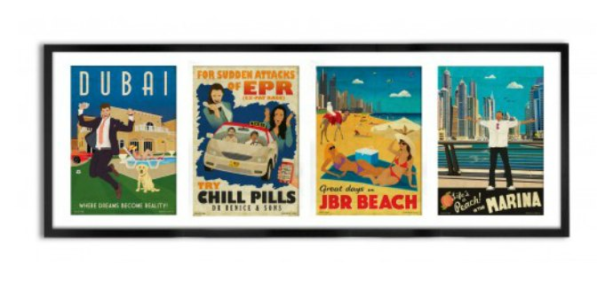 Highlife Dubai 4 A5 size postcards