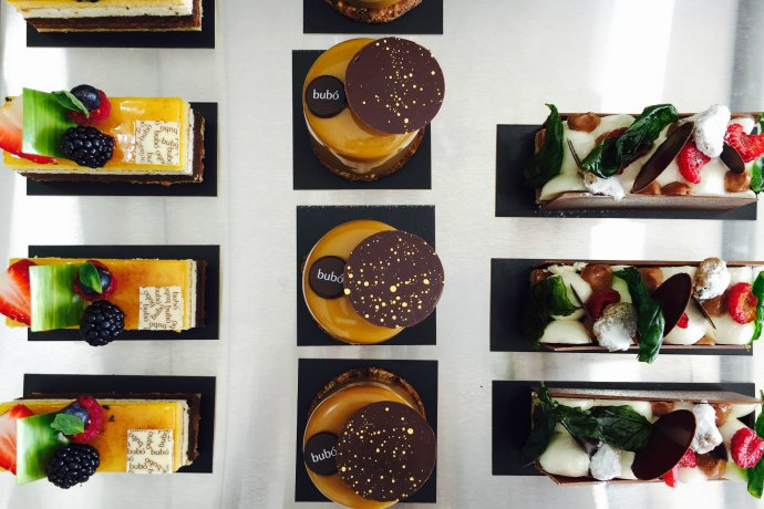 High end pastries at Bubo Barcelona in Abu Dhabi