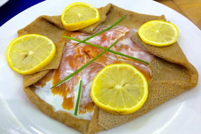 Crepe with salmon at Ty Breizh