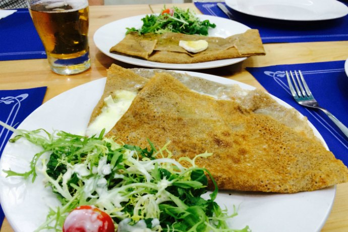 Crepes with Brie at Ty Breizh in Abu Dhabi