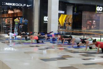 Free yoga classes at Yas Mall