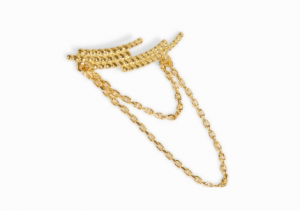 Crescent Chain Ear Cuff Right