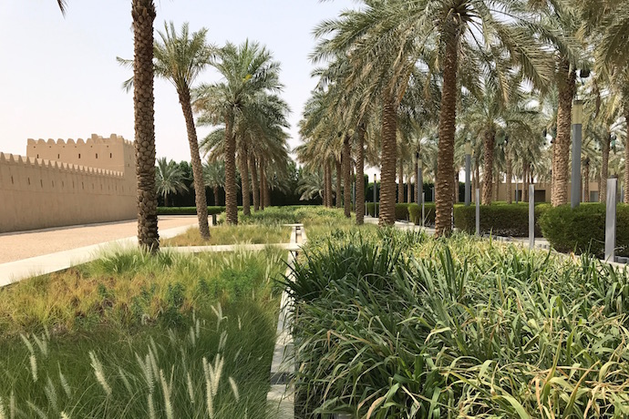 Parking and promenade next to Qasr Al Muwaiji