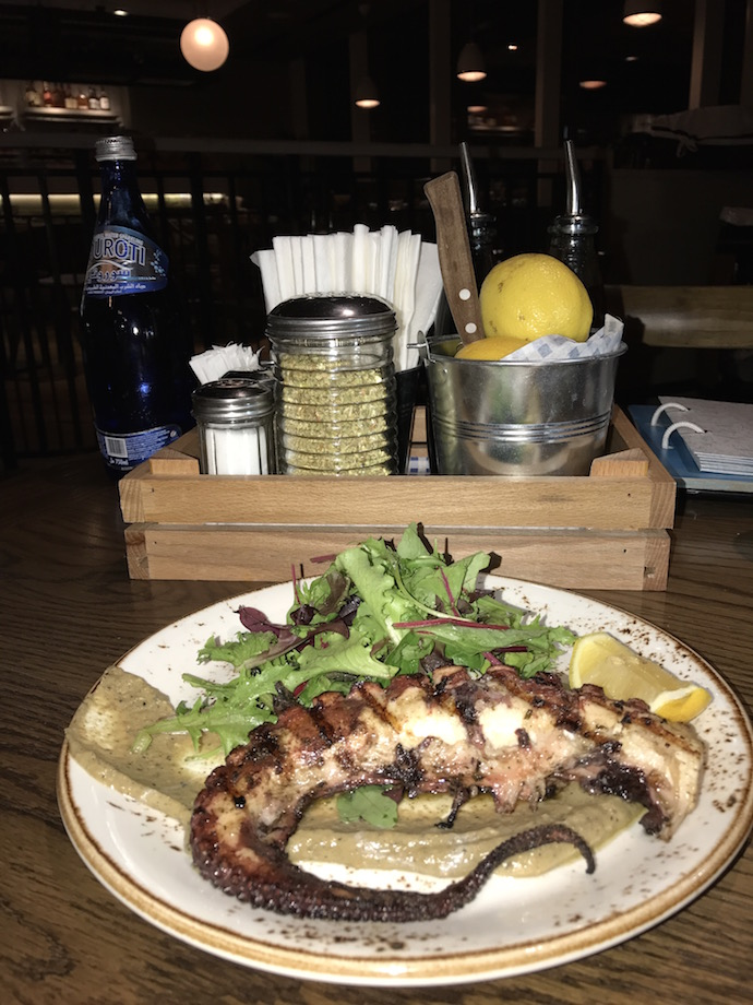 Grilled Octopus at Eat Greek Kouzina in Abu Dhabi