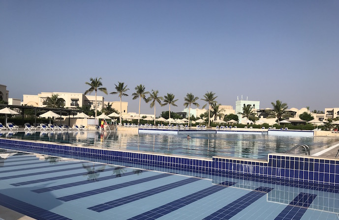 The pool at Salalah Rotana resort