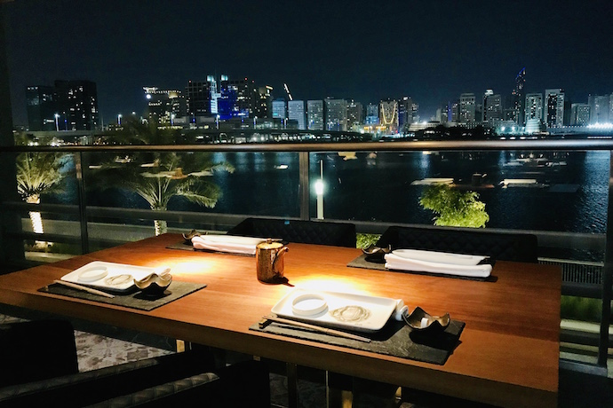 Outdoor Terrace at 99 Sushi Bar and Restaurant in Abu Dhabi
