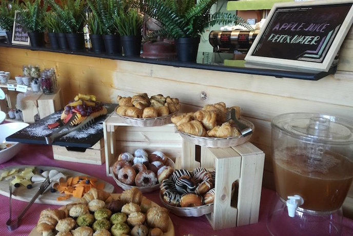 Breakfast Buffet at Organic Foods and Cafe Abu Dhabi