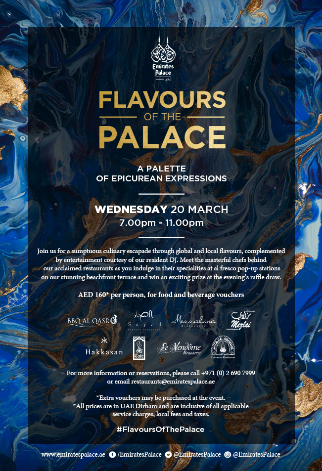 Flavours of the palace 2019 at Emirates Palace