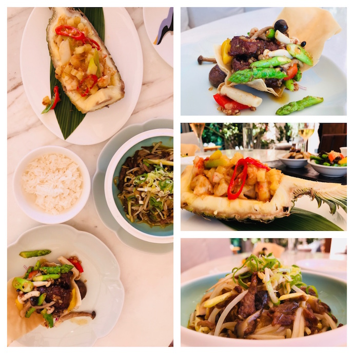 Main courses at Hakkasan Revamped Brunch in Abu Dhabi