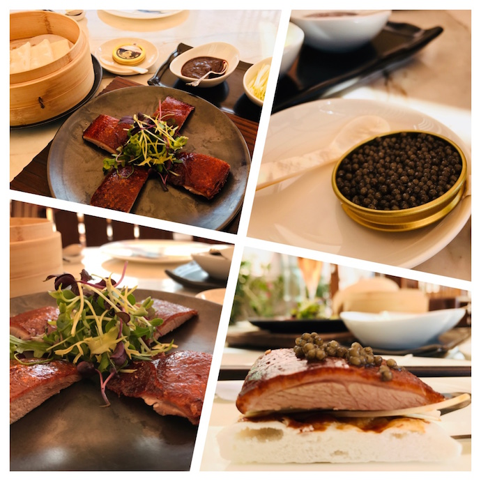 Peking Duck with caviar at Hakkasan Abu Dhabi