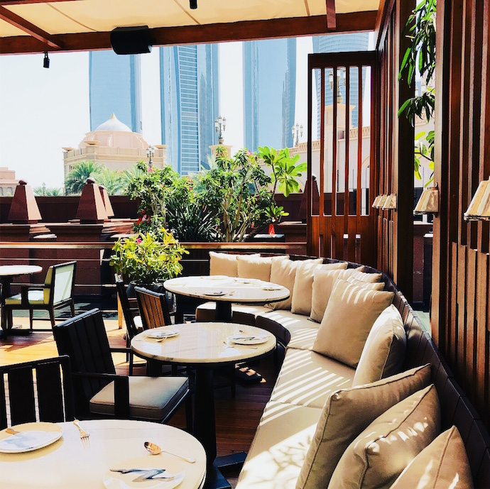 Shaded Lounge Terrace at Hakkasan Abu Dhabi