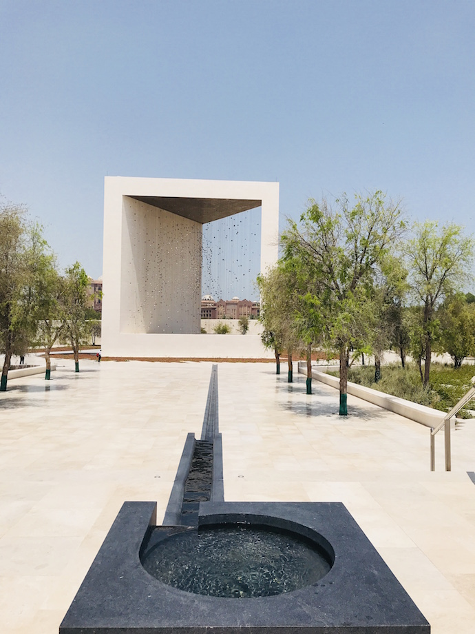 Falaj Water Feature at The Founders Memorial in Abu Dhabi