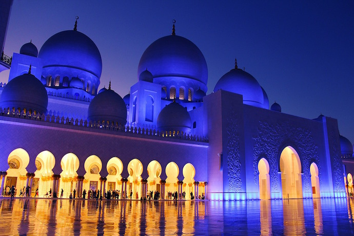 Abu Dhabi Grand Mosque dark Blue