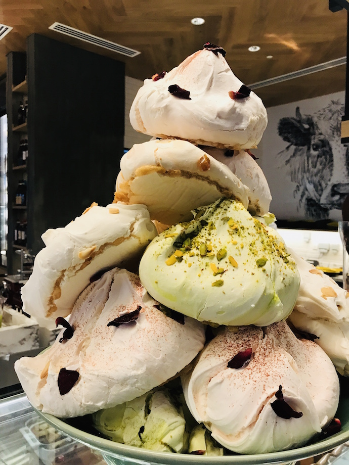 Homemade meringues at VERSO Grand Hyatt Abu Dhabi