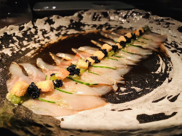 Toro Tartar with caviar at 99 Sushi Bar and Restaurant Abu Dhabi Confidential image