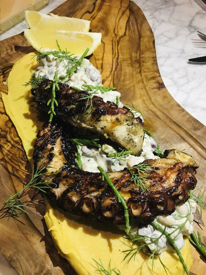 The grilled octopus tentacles at Eat Greek Kouzina