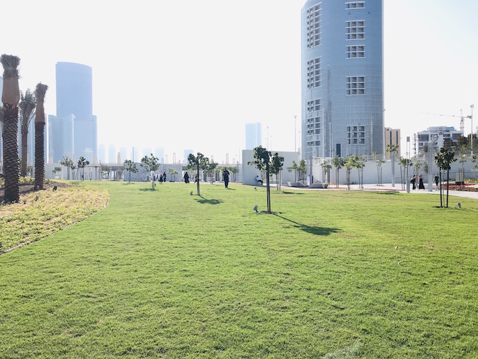 Communal Lawn Area at Reem Central Park Abu Dhabi