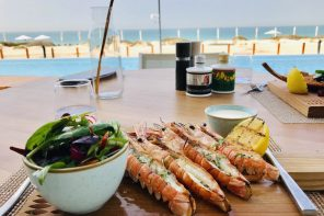 Langoustines by the sea at Mare Mare Abu Dhabi