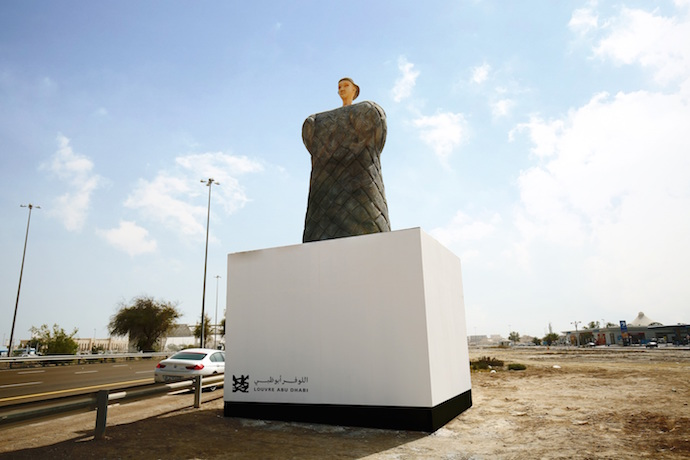 Reproduction of Louvre Abu Dhabi's 4000 year old Bactrian Princess for the second edition of the globally awarded Highway Gallery