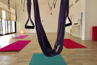SWING YOGA CLASS AT THE STUDIO