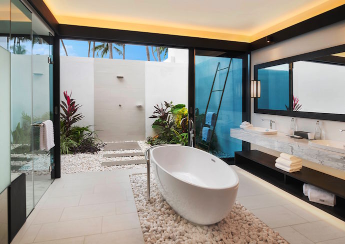 Westin Maldives - 2BR Island Residence Pool Bathroom