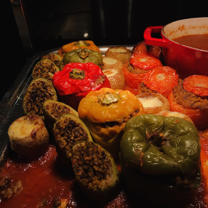 Stuffed vegetables at Iftar at The Terrace