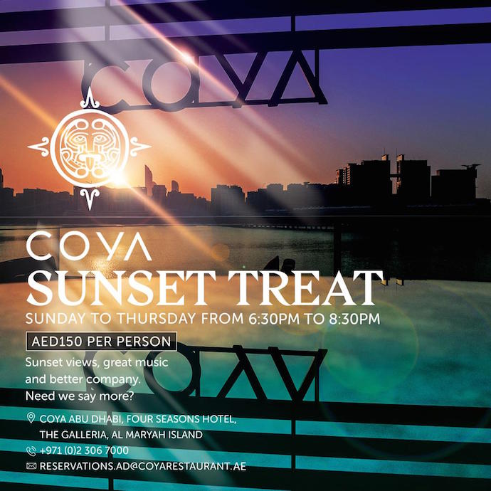 Sunset Treat Flyer
