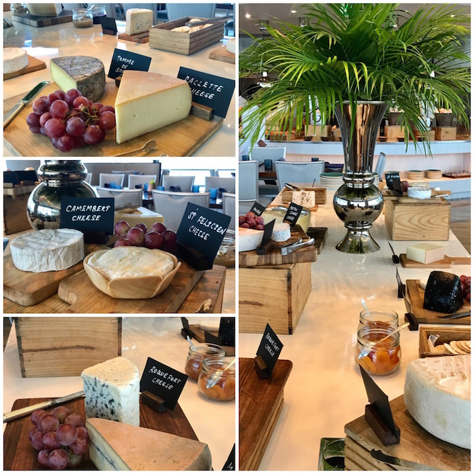 Cheese Table at Rosewood garden Brunch
