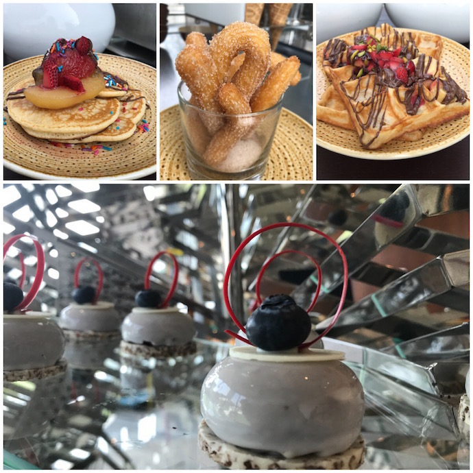 Dessert Options at Rosewood garden Brunch