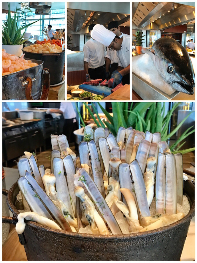 Seafood Live Station at Rosewood Garden Brunch