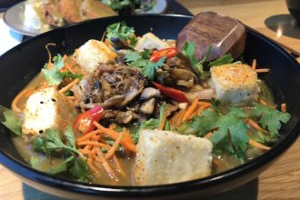 Vegan raman Bowl at Wagamama Abu Dhabi